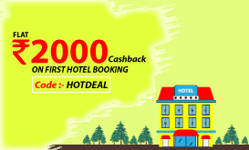 Upto 2000 cashback on hotel booking. use code - HOTDEAL