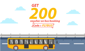 Get 200 Voucher on first bus booking. Use code - FLYBUS