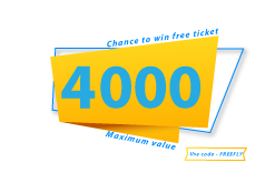 Stand a chance  to win free flight ticket of value upto 4000 Use code - FREEFLYGO