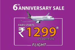 Vistara Sale staring 1299 on domestic flight booking.